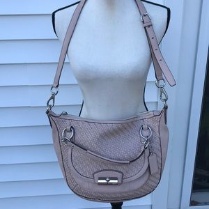 Coach beautiful woven leather design bag